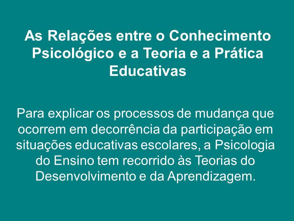 As Relações entre o Conhecimento Psicológico e a Teoria e a Prática Educativas