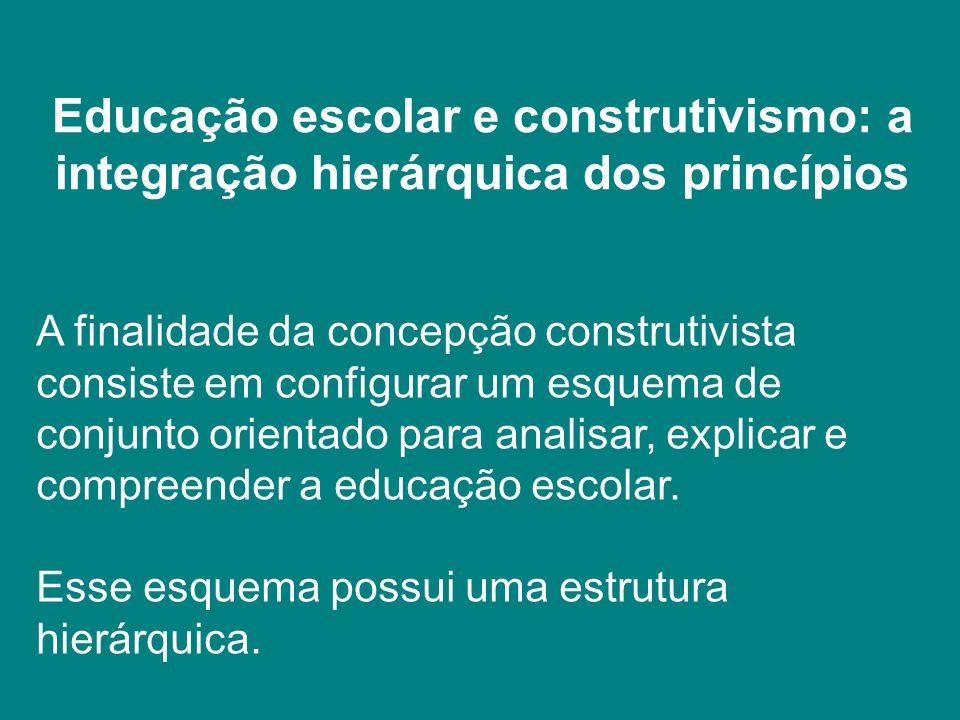 Educação escolar e construtivismo: a integração hierárquica dos princípios