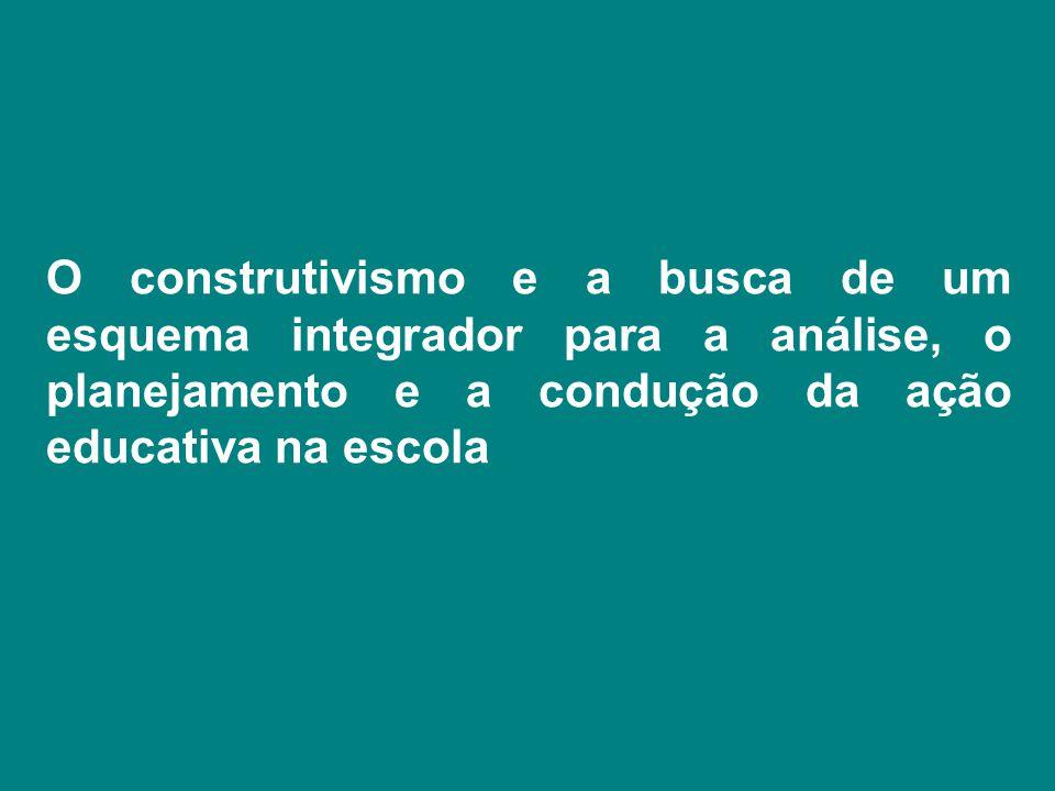 O construtivismo e a busca de um esquema integrador para a análise, o planejamento e a condução da ação educativa na escola