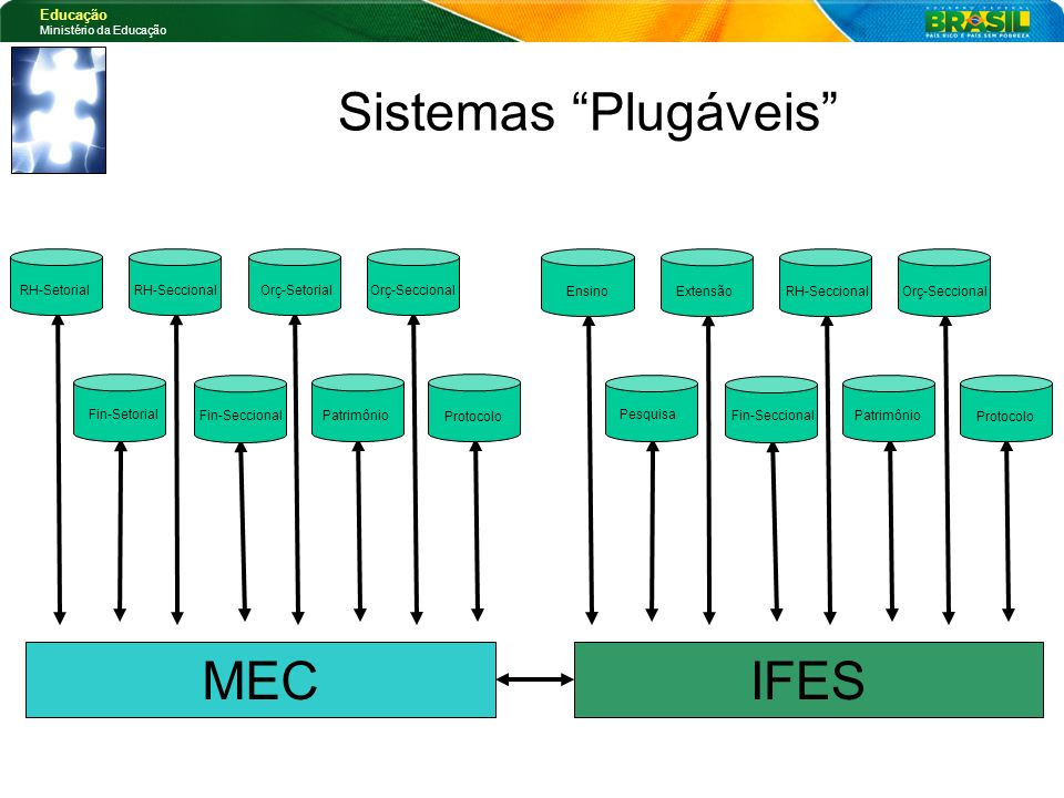 Sistemas Plugáveis MEC IFES RH-Setorial RH-Seccional Orç-Setorial