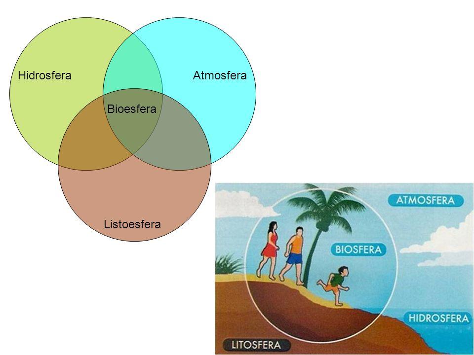 Hidrosfera Atmosfera Bioesfera Listoesfera