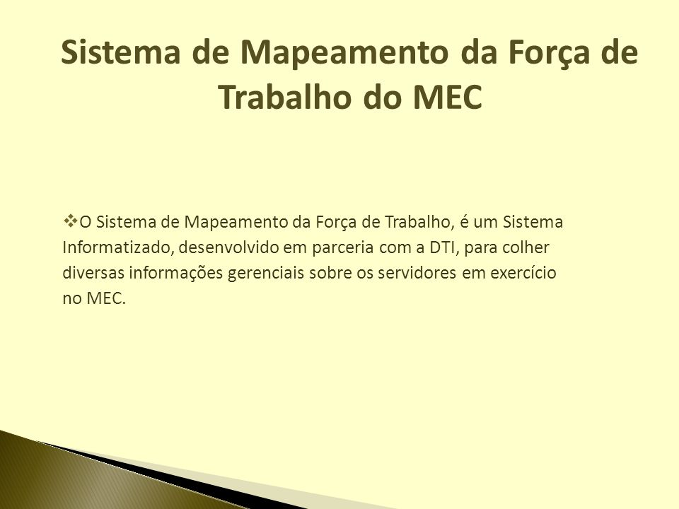 Sistema de Mapeamento da Força de Trabalho do MEC