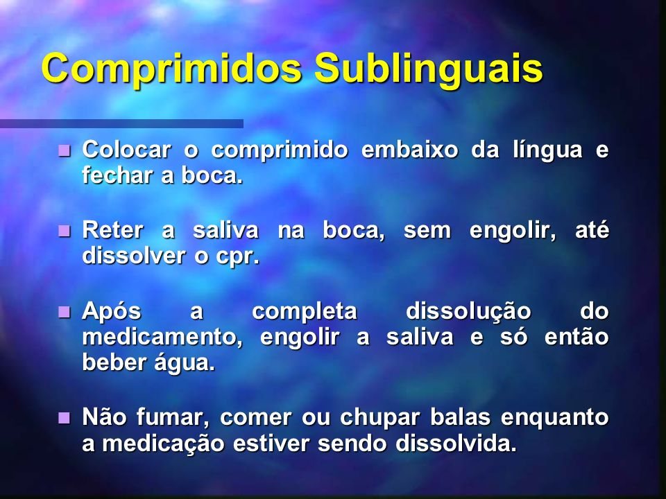 Comprimidos Sublinguais