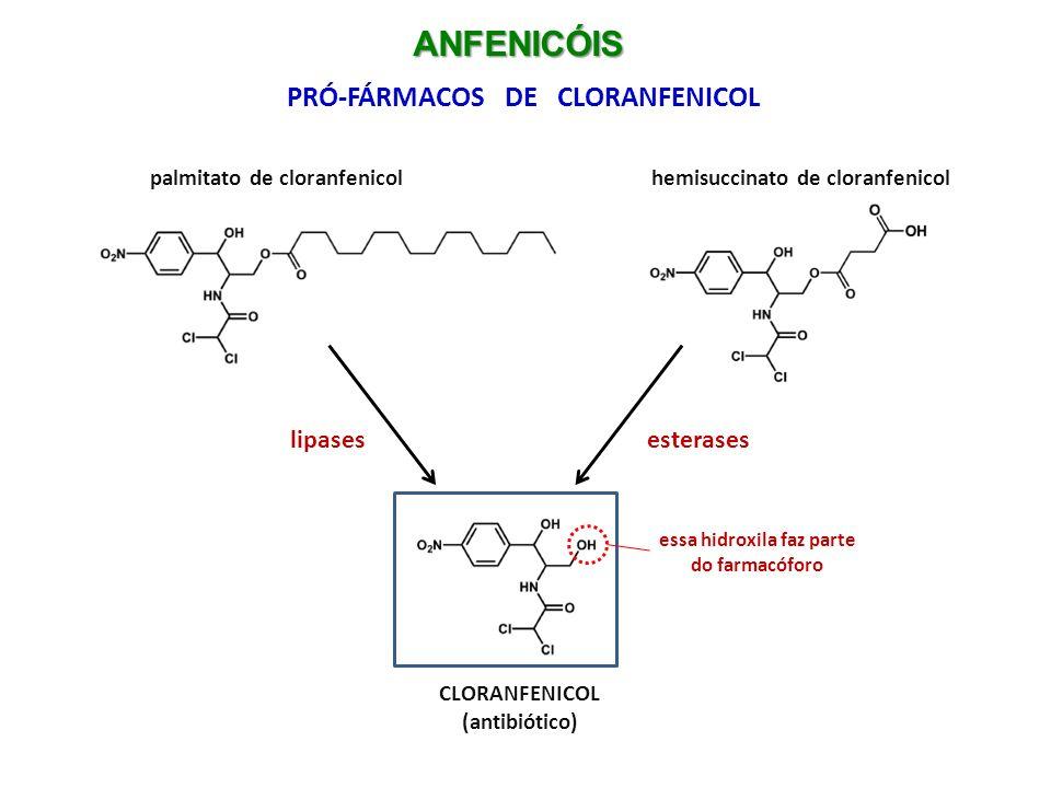 PRÓ-FÁRMACOS DE CLORANFENICOL essa hidroxila faz parte