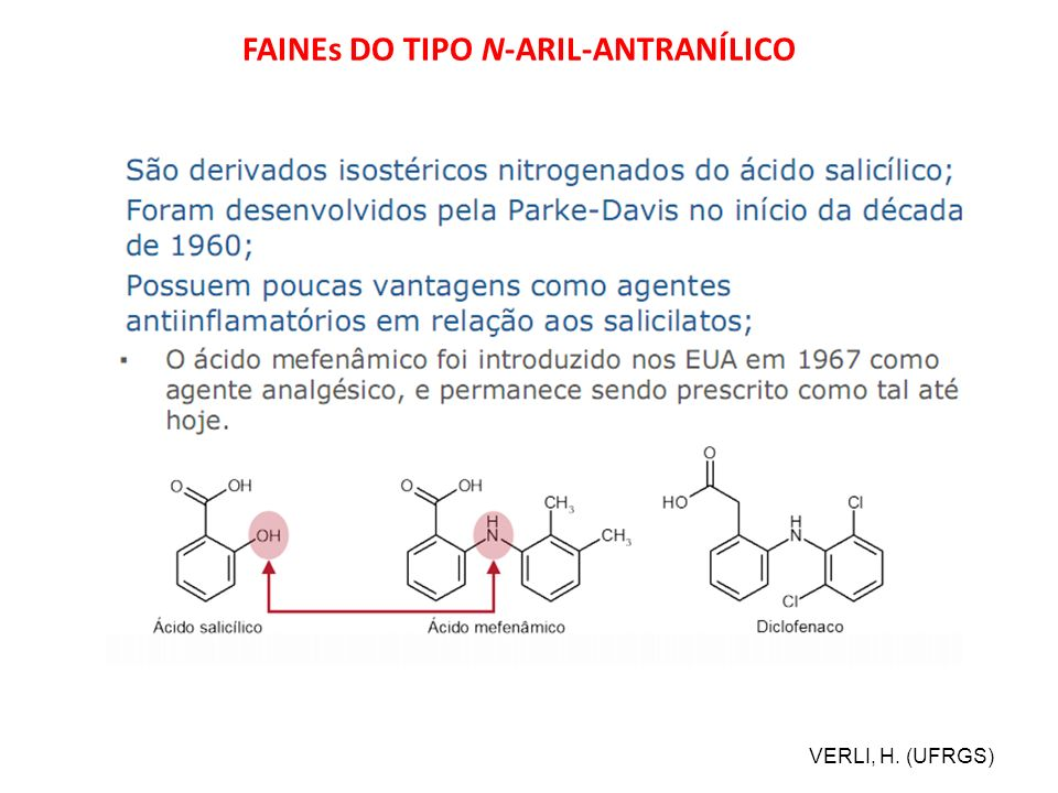 FAINEs DO TIPO N-ARIL-ANTRANÍLICO