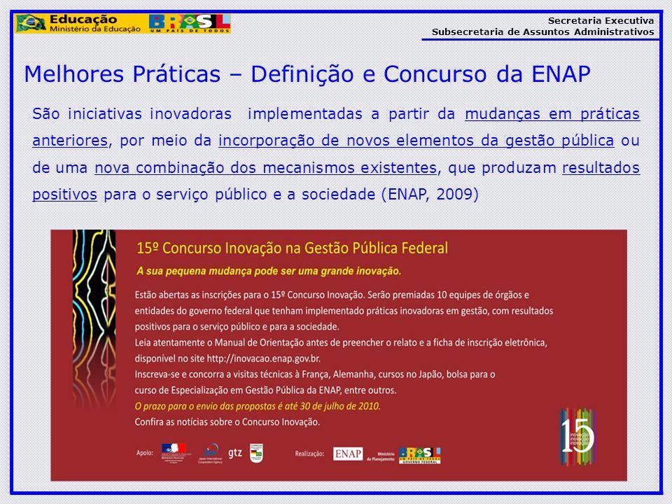 Melhores Práticas – Definição e Concurso da ENAP
