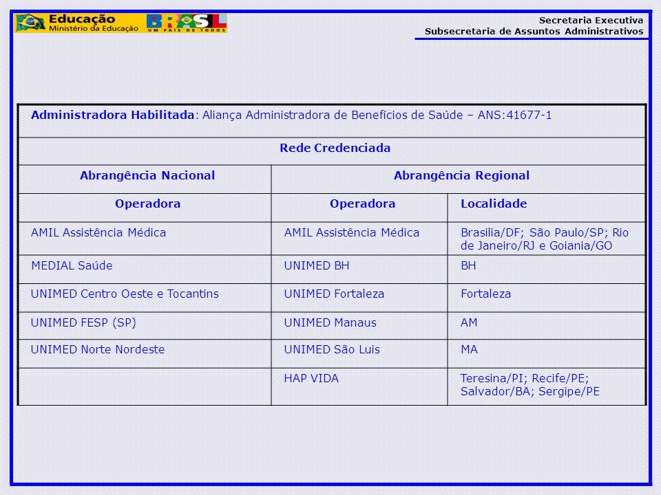 Administradora Habilitada: Aliança Administradora de Benefícios de Saúde – ANS:41677-1