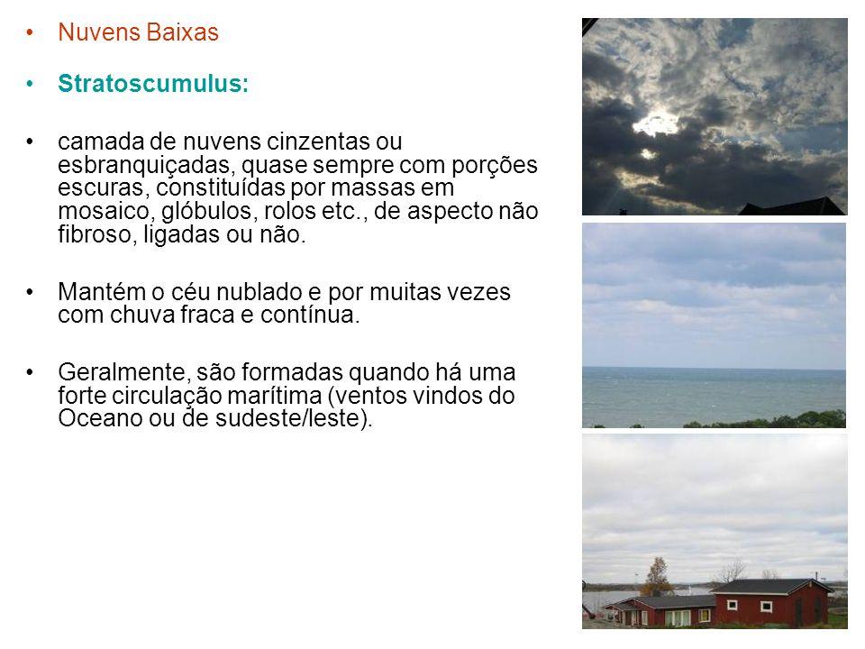 Nuvens Baixas Stratoscumulus: