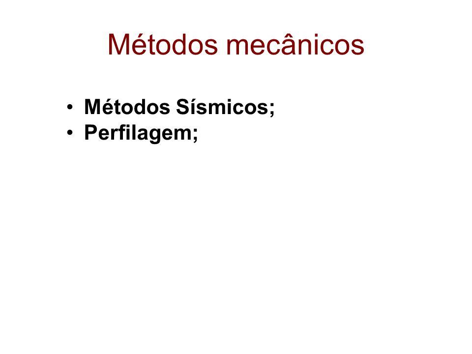 Métodos mecânicos Métodos Sísmicos; Perfilagem;