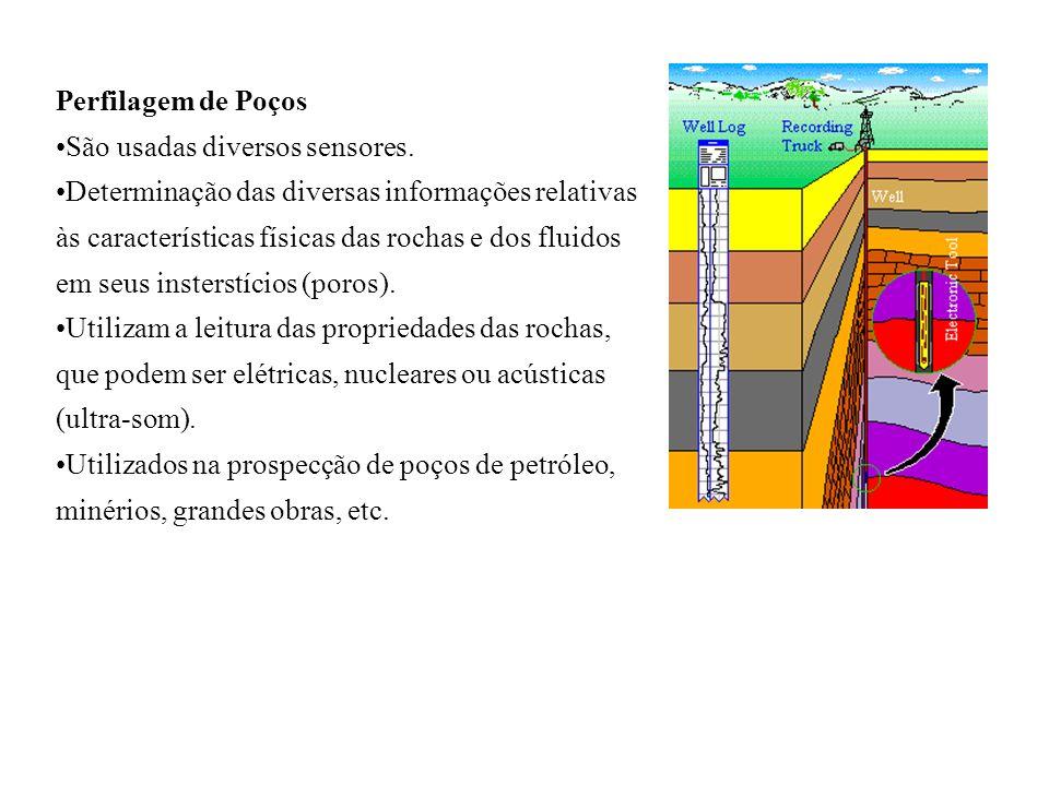 Perfilagem de Poços São usadas diversos sensores.