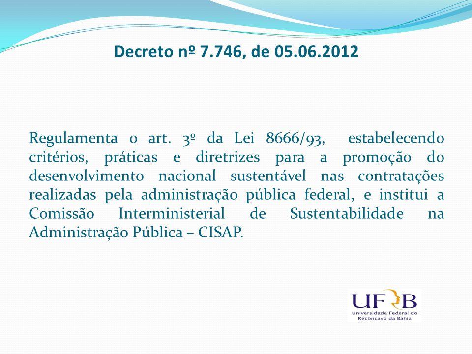 Decreto nº 7.746, de 05.06.2012