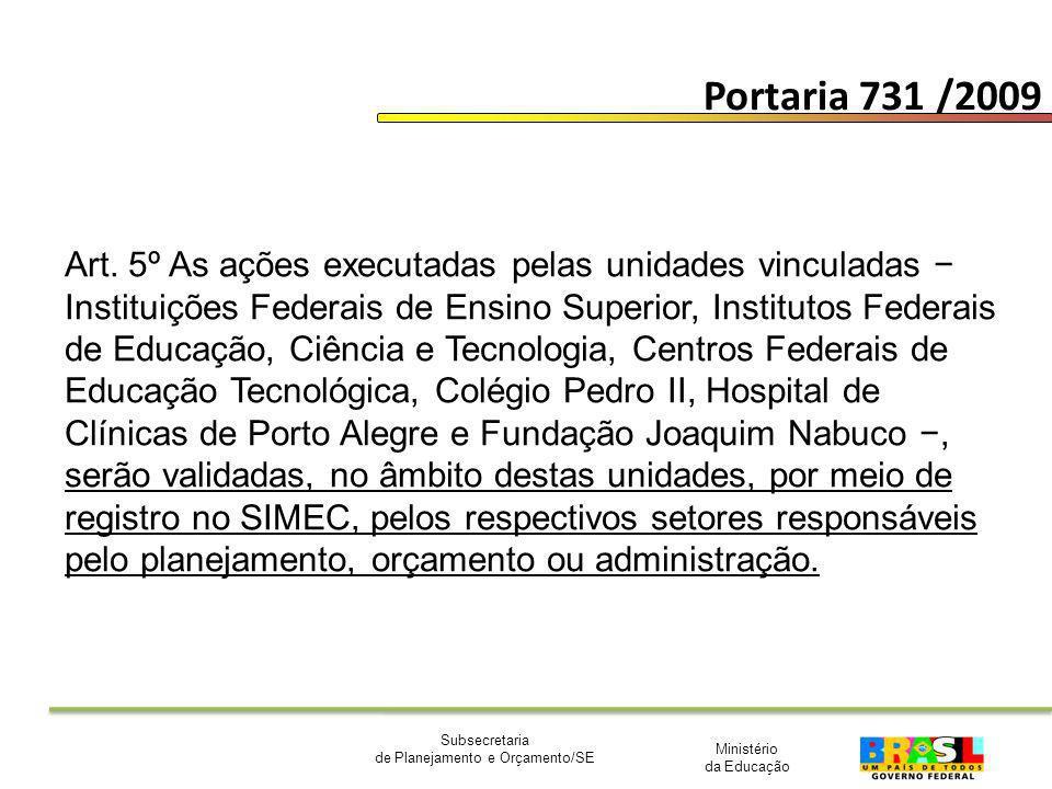 Portaria 731 /2009