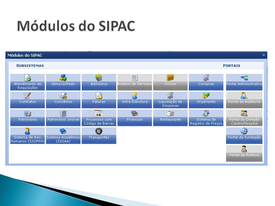 Módulos do SIPAC