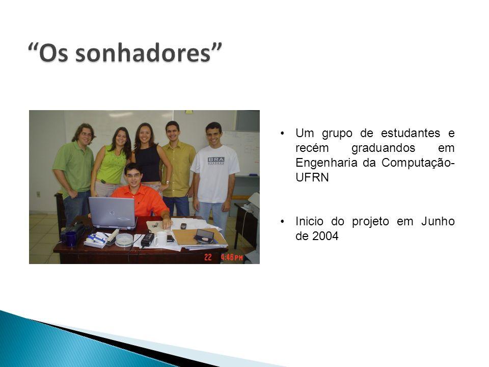 Os sonhadores Um grupo de estudantes e recém graduandos em Engenharia da Computação-UFRN.