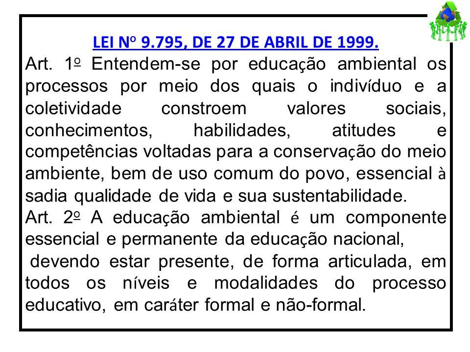 LEI No 9.795, DE 27 DE ABRIL DE 1999.Art.
