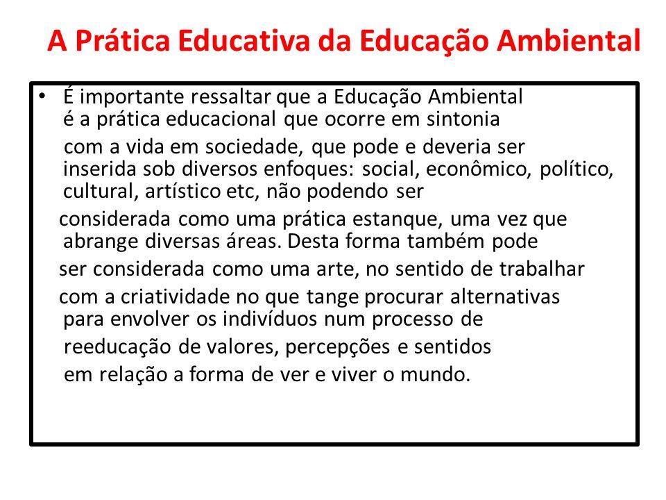A Prática Educativa da Educação Ambiental