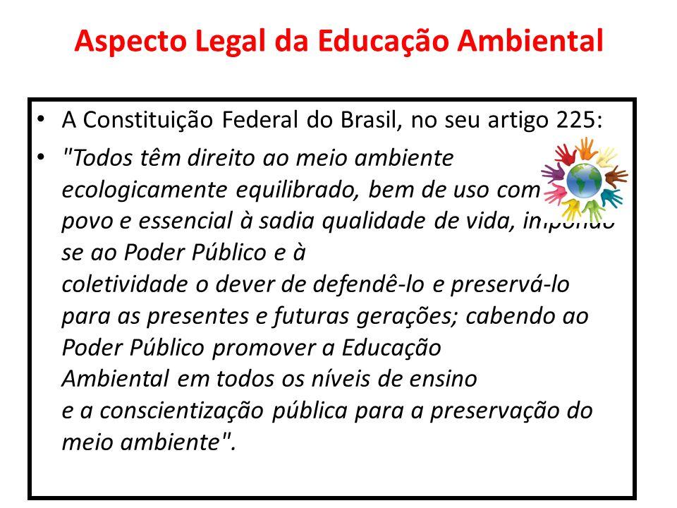 Aspecto Legal da Educação Ambiental