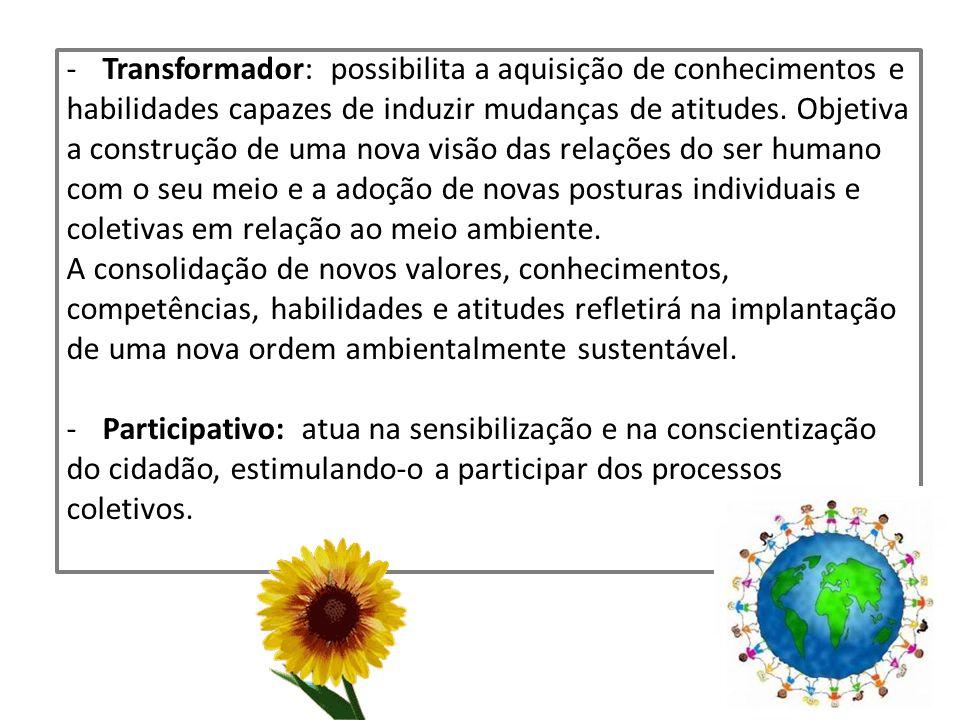 Transformador: possibilita a aquisição de conhecimentos e