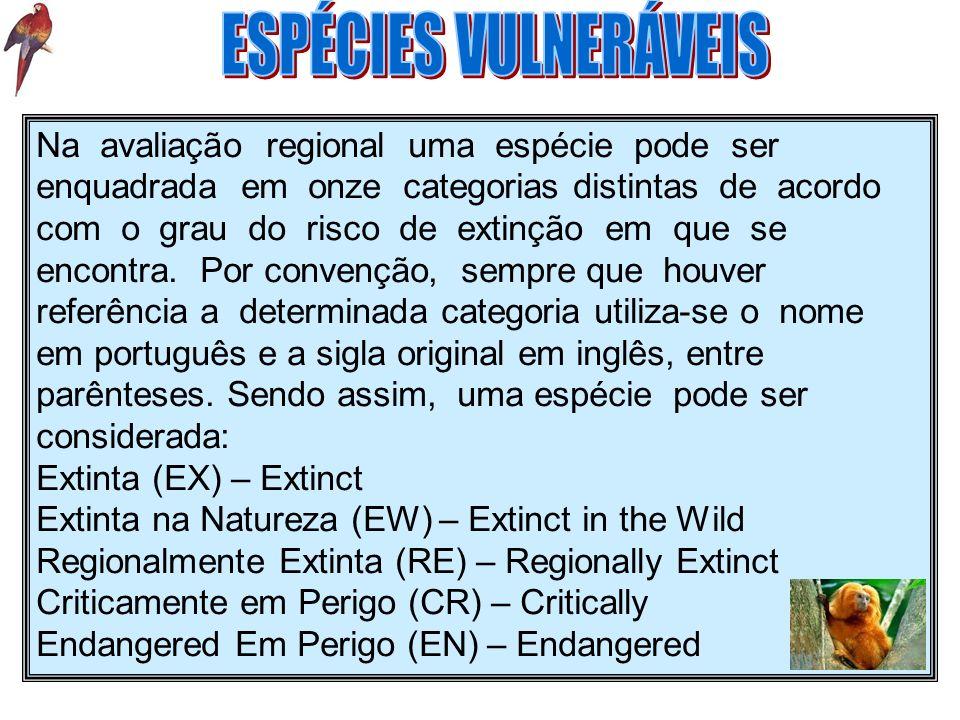 ESPÉCIES VULNERÁVEIS