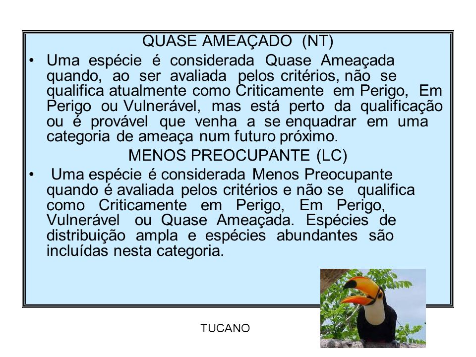 MENOS PREOCUPANTE (LC)