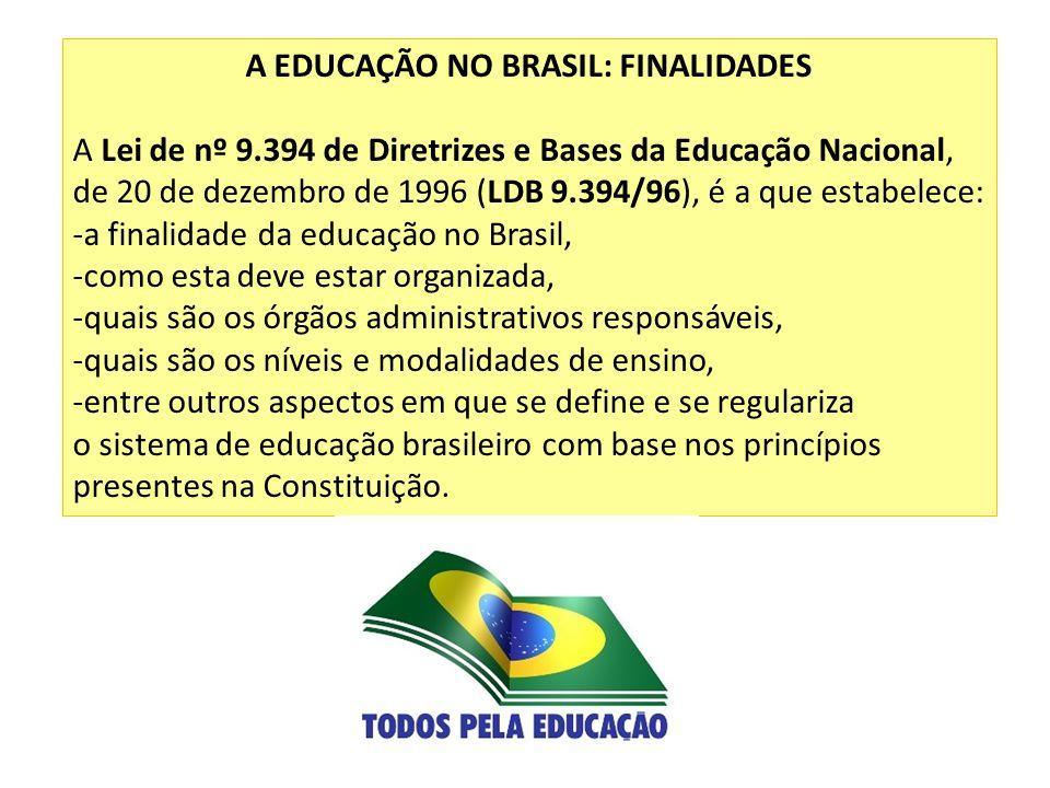 A EDUCAÇÃO NO BRASIL: FINALIDADES