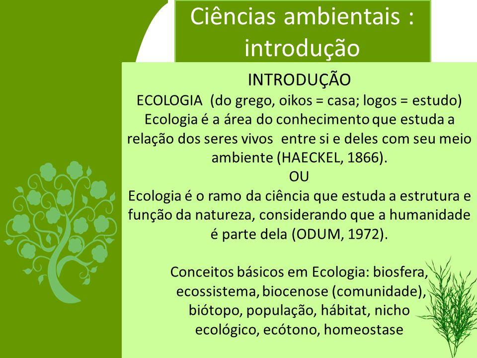 Ciências ambientais : introdução