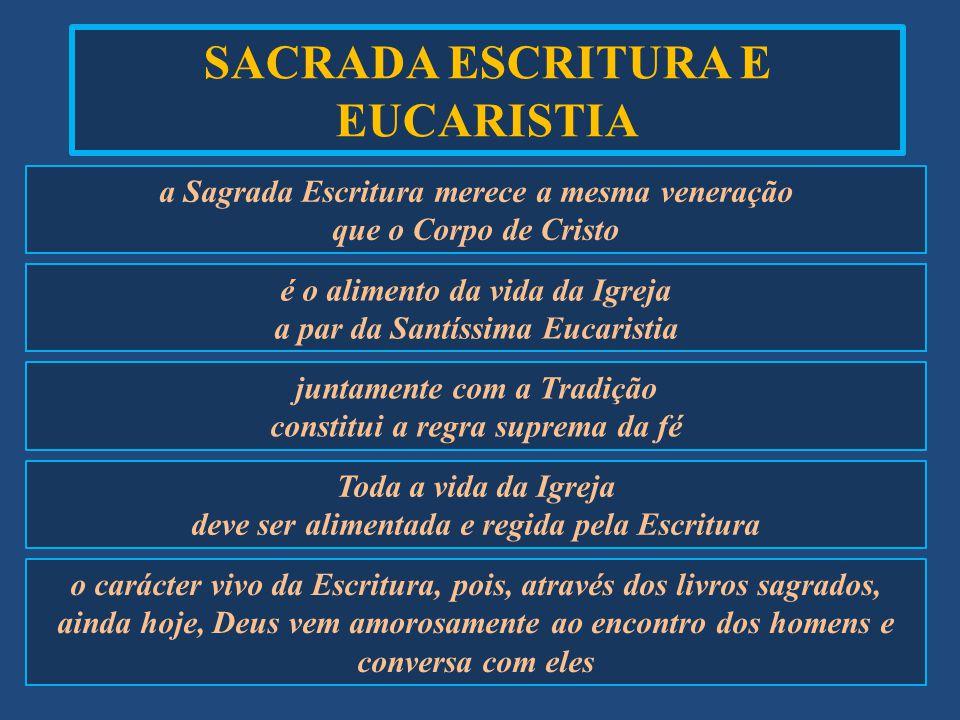 SACRADA ESCRITURA E EUCARISTIA
