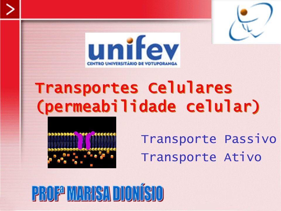 Transportes Celulares (permeabilidade celular)