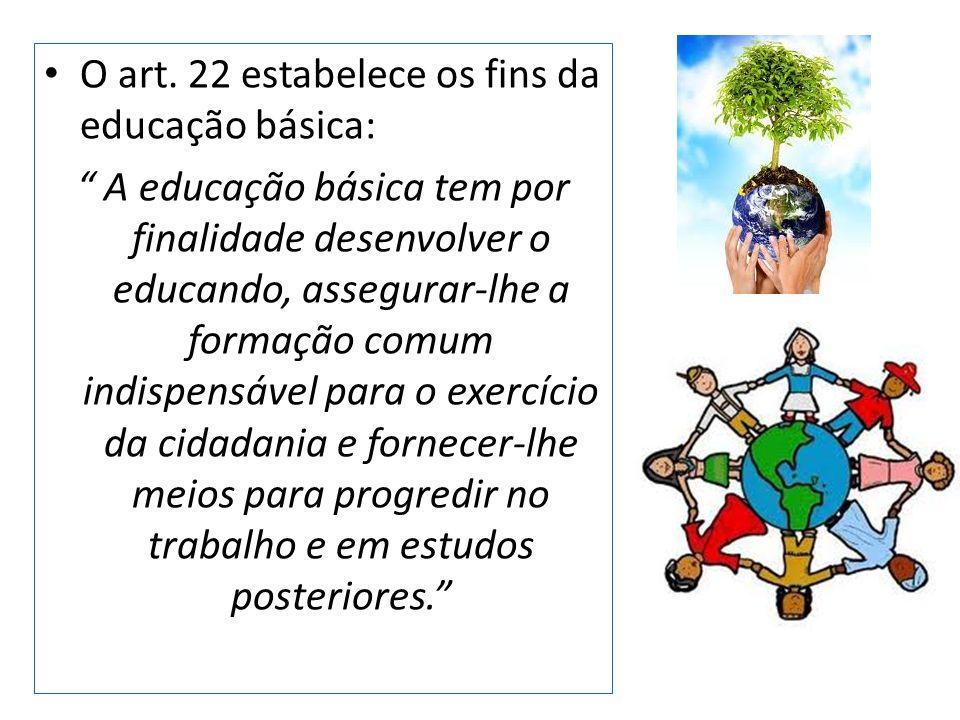O art. 22 estabelece os fins da educação básica: