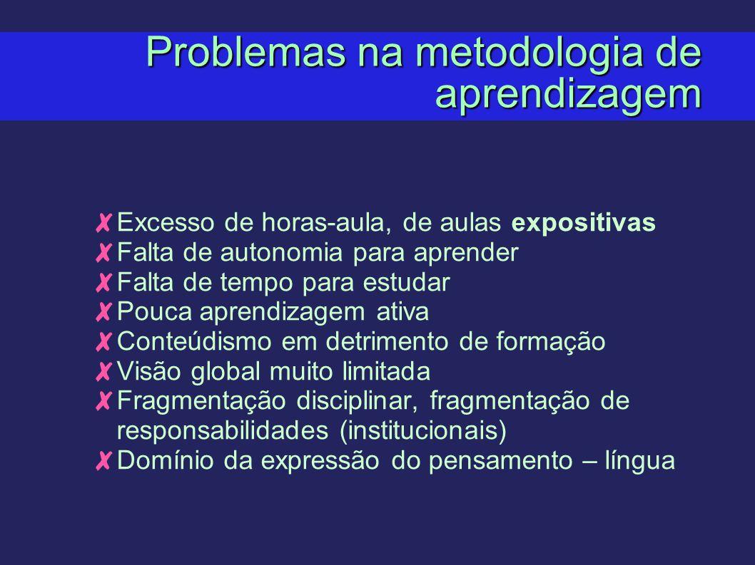 Problemas na metodologia de aprendizagem