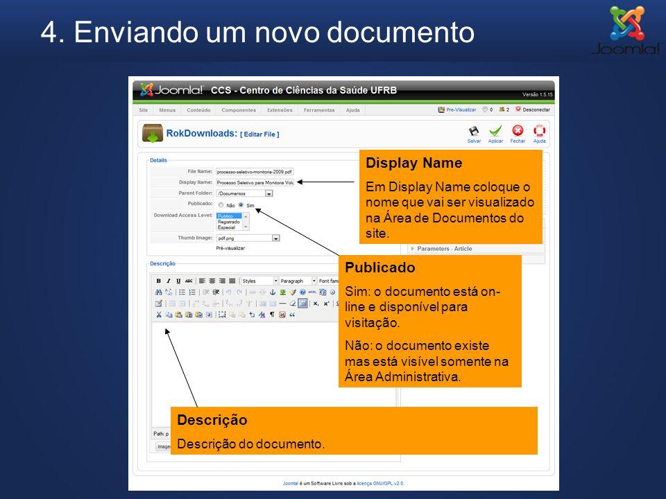 4. Enviando um novo documento