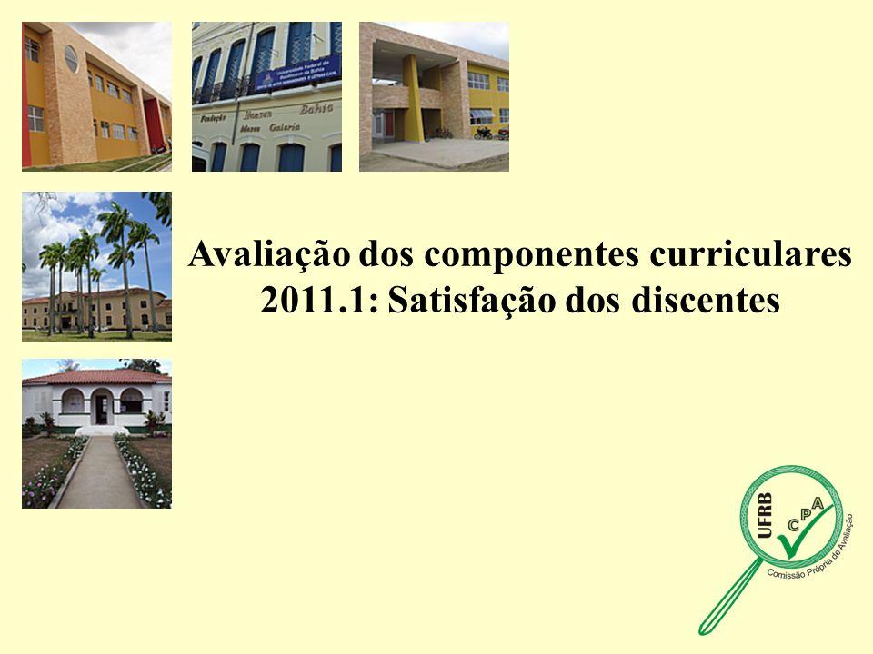 Avaliação dos componentes curriculares 2011