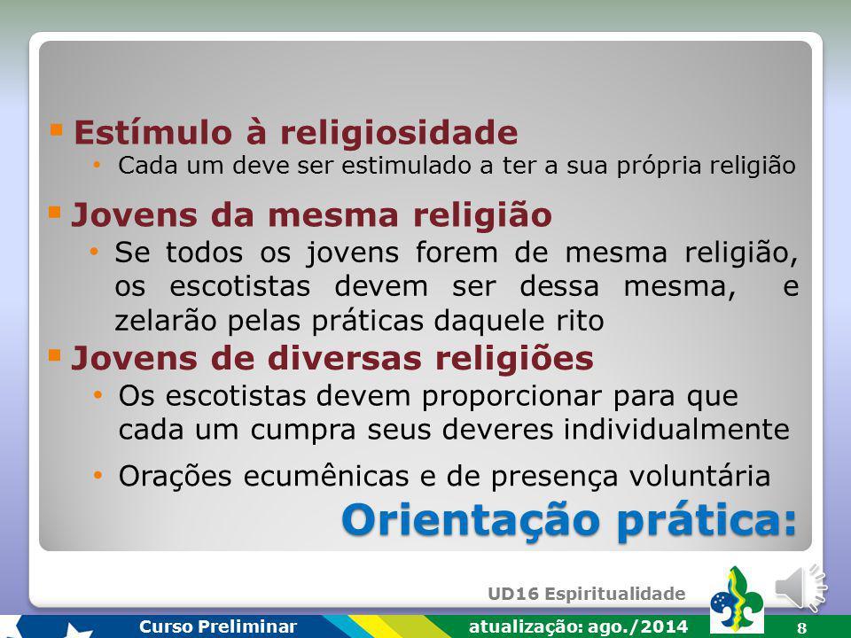 Orientação prática: Estímulo à religiosidade Jovens da mesma religião