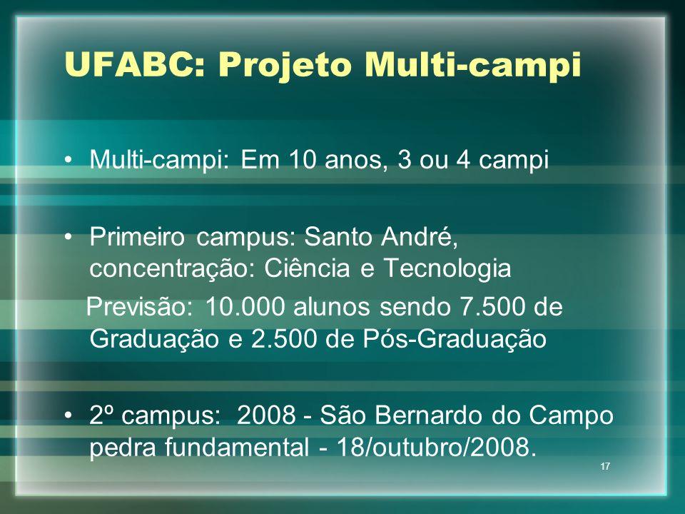 UFABC: Projeto Multi-campi