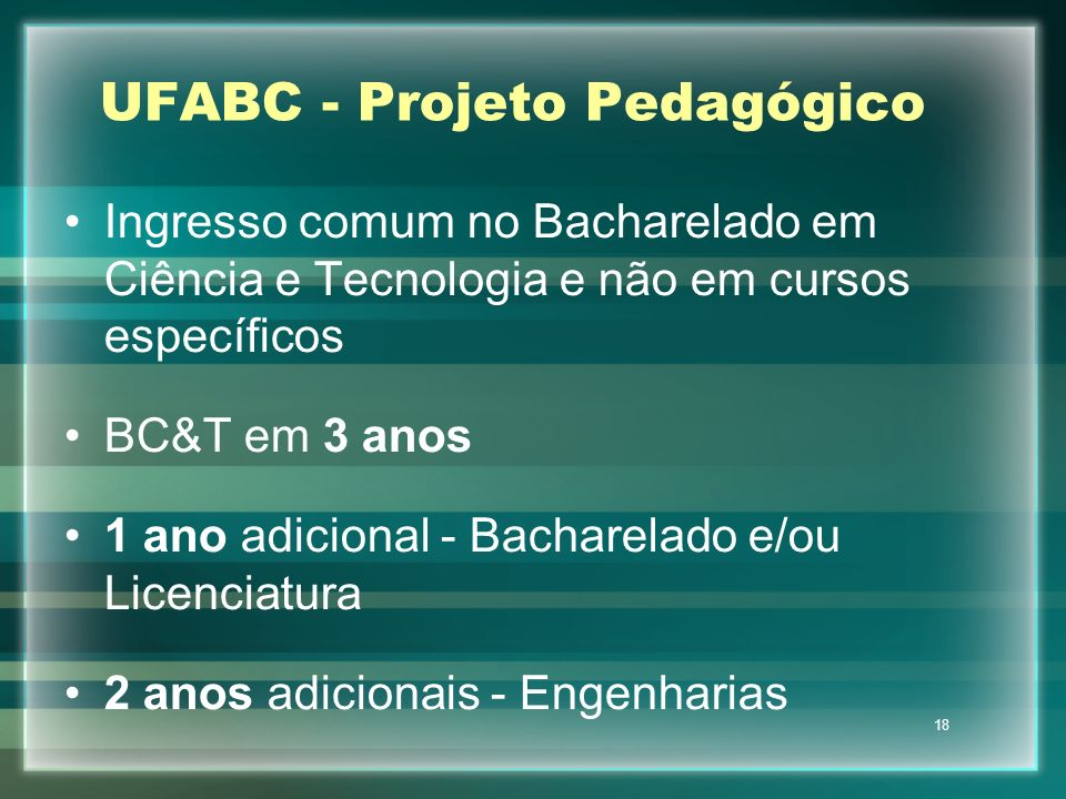 UFABC - Projeto Pedagógico