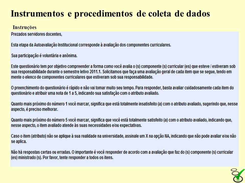 Instrumentos e procedimentos de coleta de dados