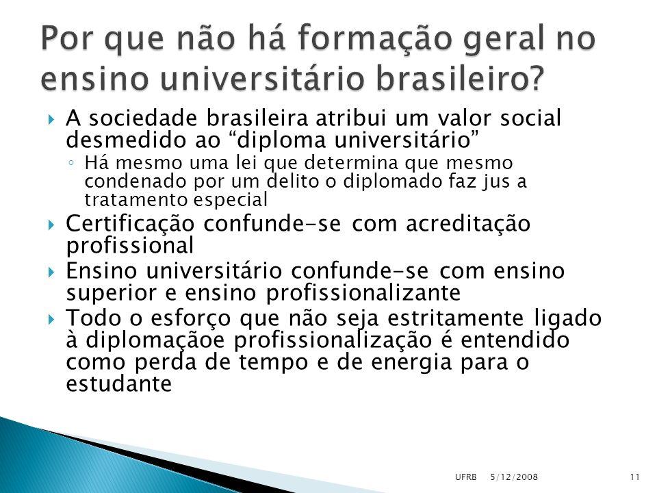Por que não há formação geral no ensino universitário brasileiro