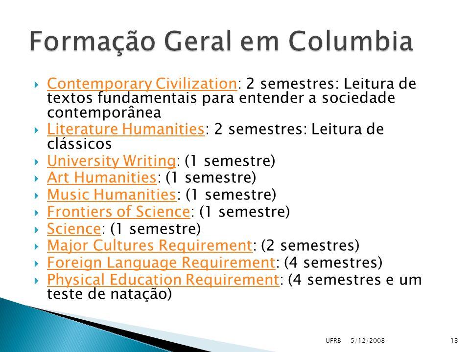 Formação Geral em Columbia
