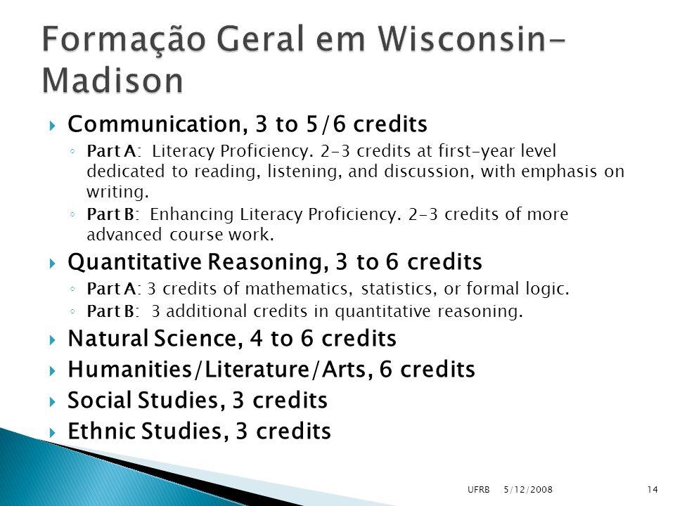 Formação Geral em Wisconsin-Madison