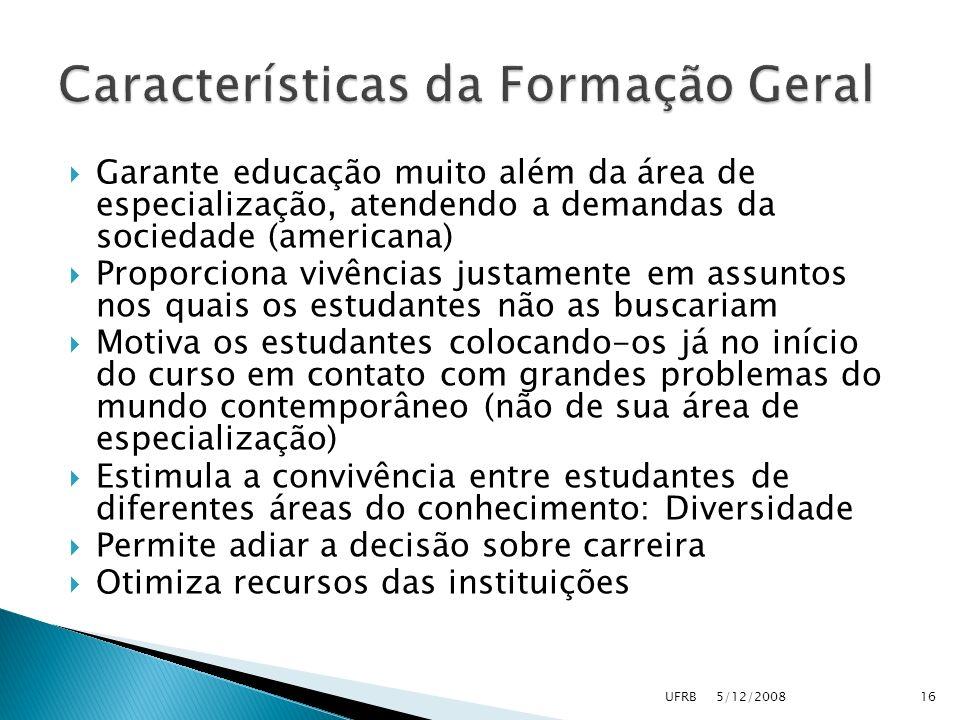 Características da Formação Geral