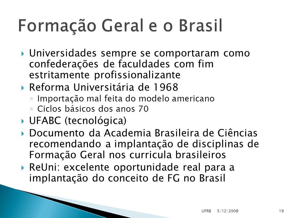 Formação Geral e o Brasil