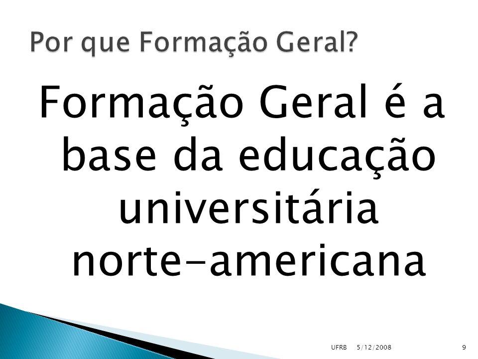 Formação Geral é a base da educação universitária norte-americana