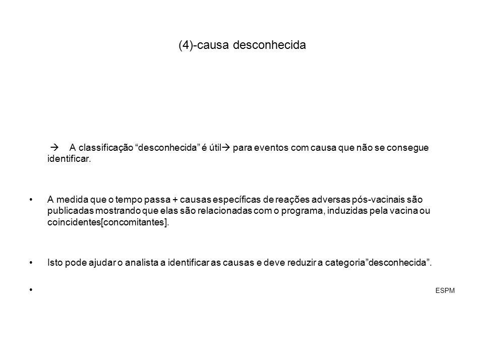 (4)-causa desconhecida