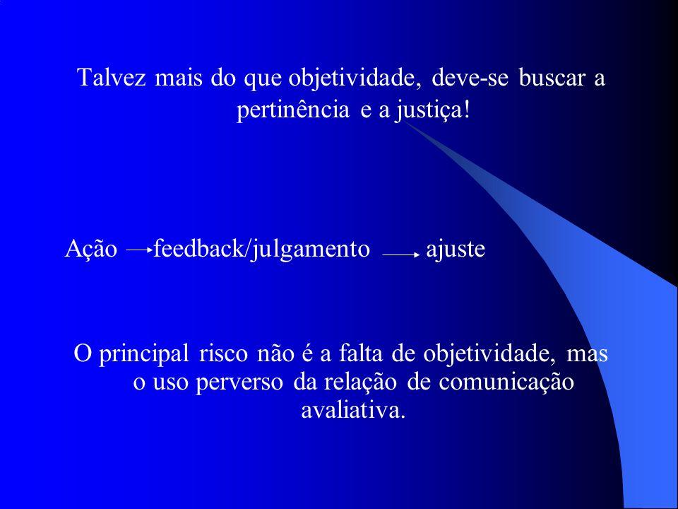 Talvez mais do que objetividade, deve-se buscar a pertinência e a justiça!