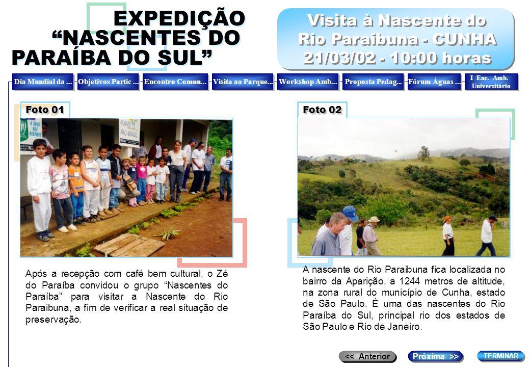 Visita à Nascente do Rio Paraibuna - CUNHA