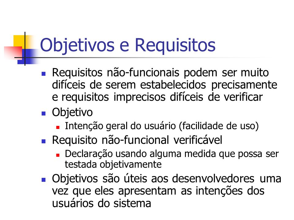 Objetivos e Requisitos