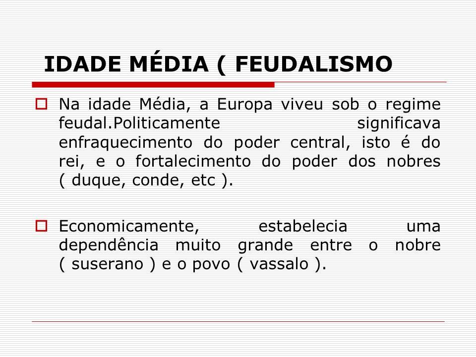 IDADE MÉDIA ( FEUDALISMO