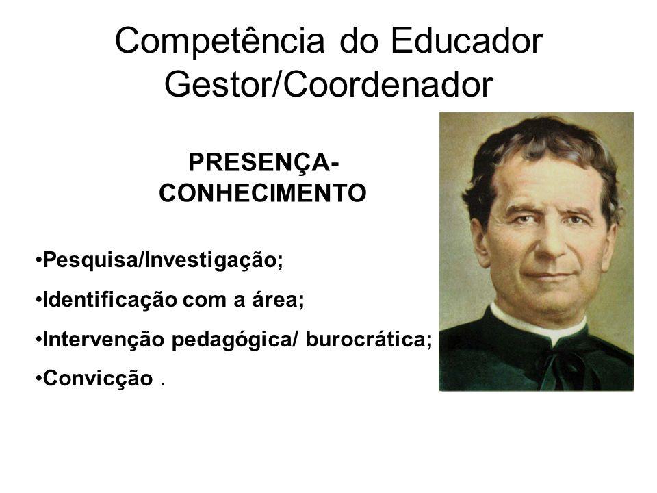 Competência do Educador Gestor/Coordenador
