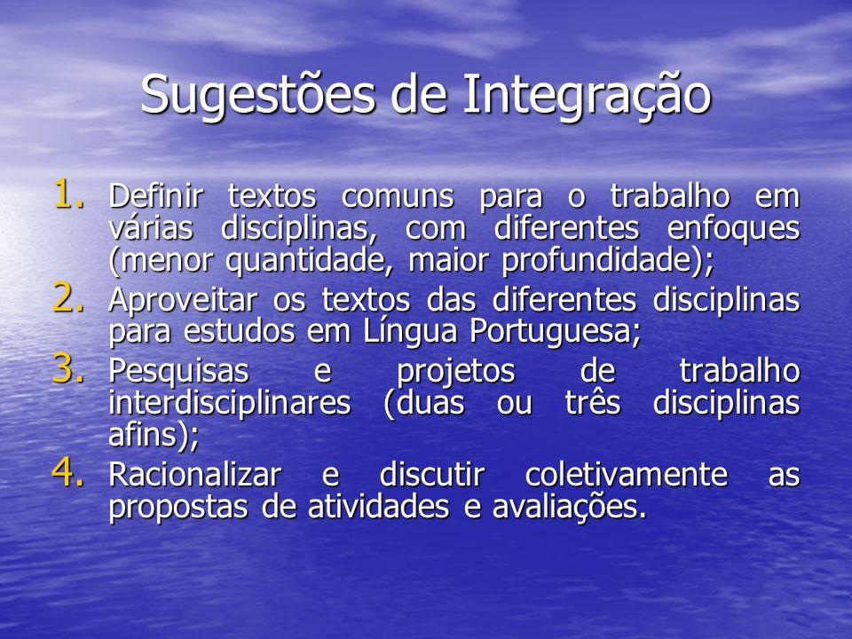 Sugestões de Integração