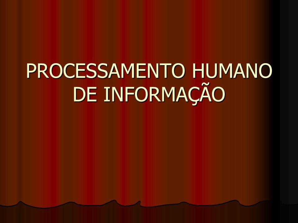 PROCESSAMENTO HUMANO DE INFORMAÇÃO
